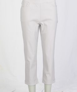 """22"""" Leg Embroidered Crop Trouser"""