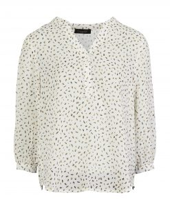 White Speckle Print Top